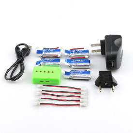 Spare Part 3.7V 280MAH Lithium Battery - Quick Charging Set for JJRC H20C/H20W(5 batteries)
