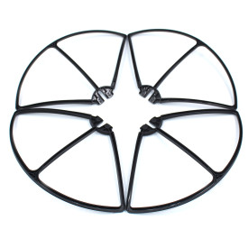 4Pcs Propellers Protective Guard Bumper Protector Set for Syma X8C X8W X8G X8HW X8HC X8HG RC Quadcopter - Black