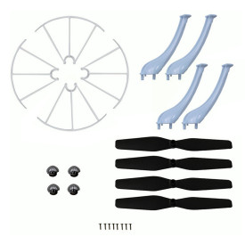 4Pcs Versatile Accessory Set For Syma X5HC/X5HW RC Quadcopter - Black + White