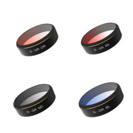 PGYTECH DJI phantom 4 Pro/ PHANTOM 4PRO V2.0 Accessories Lens Filters with color (red/blue/gray/orange)  gradual HD Filter Drone gimbal RC Quadcopter parts Set