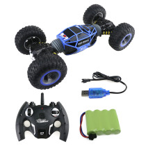 1:16 2.4G 4WD RC Double-sided Driving Stunt Car Off-road Vehicle Climbing Car RC Monster Truck - Blue