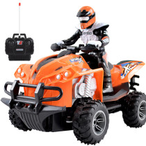Children RC Off-road Vehicle Four-wheeled Motorcycle Car Toy -  EU Plug