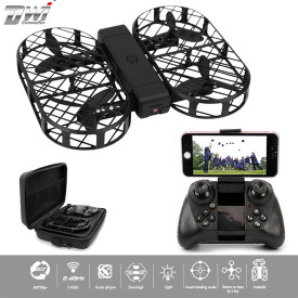 Dwi Dowellin D7 Foldable RC Quadcopter 0.3MP Camera WIFI FPV Drone with Altitude Hold