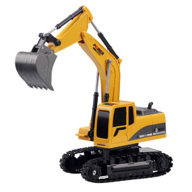 1:24 6CH RC Engineering Van Excavator Model Navvy Beach Toy for Children - Alloy Version