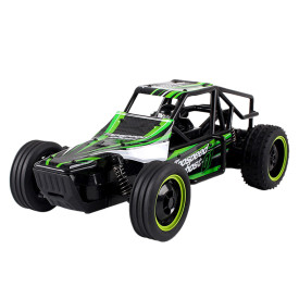 2.4G Anti-skid High-speed Off-road Vehicle Big Wheels Shatter-proof Wireless RC Car Toy for Kids - Green