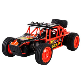 2.4G Anti-skid High-speed Off-road Vehicle Big Wheels Shatter-proof Wireless RC Car Toy for Kids - Orange