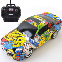 1:24 4 Channels Graffiti Remote Control Car Electric Remote Control Car with Light Toys(Random Delivery)
