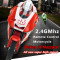 8012 Creative Mini Magic Prestige RC Motorcycle High Speed Car Toy for Children - Red
