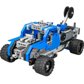 DIY Building Block High Speed RC Car Off-road Vehicle Deformation Vehicle Educational Toy - Hercules Type Blue