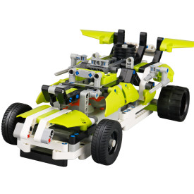 DIY Building Block High Speed RC Car Off-road Vehicle Deformation Vehicle Educational Toy - Green Python Type