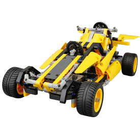 DIY Building Block High Speed RC Car Off-road Vehicle Deformation Vehicle Educational Toy - Yellow Pythons Type