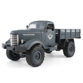 JJRC Q61 Four Wheel Drive Remote Control Military Trucks Children Toy - Blue