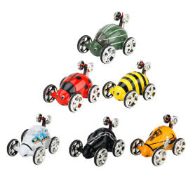 Creative Magic Prestige Beetle Dump Truck RC Rolling Rotating Wheel Car Toy for Kids - Color Random