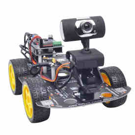 Programmable Robot DIY Wifi + Bluetooth Steam Educational Car with Graphic Programming XR BLOCK Linux for Arduino UNO R3