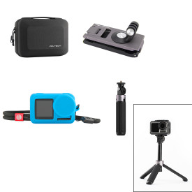 PGYTECH Tripod Selfie Stick Portable Bag Strap Holder Silicone Case Travel Suit for DJI OSMO ACTION