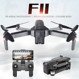 F11 PRO 1080P GPS Brushless Motor Track Flight RC Quadcopter Drone - Black