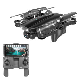 S167 2.4G GPS Folding Positioning Automatic Return Quadcopter Drone with 1080P HD Camera - Black