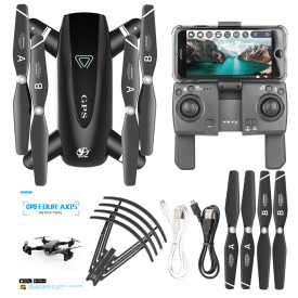 SG167 5G GPS Positioning Folding Automatic Return Quadcopter Drone with 4K HD Camera - Black