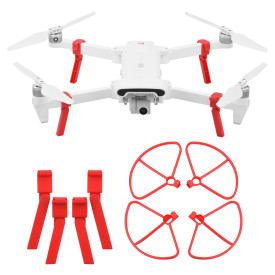 Landing Gear with Guard Circle for Xiaomi FIMI X8SE Drone - Red