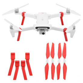 Landing Gear with Propeller for Xiaomi FIMI X8SE Drone - Red