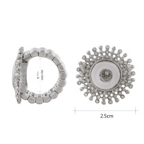 12MM snaps adjustable Ring with Rhinestone KS1188-S snaps jewelry
