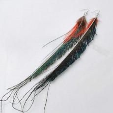 Hot sale real feather earring