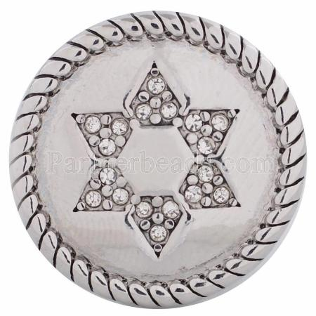 20MM snap Hexagram KC5108 interchangable snaps jewelry
