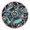 20MM design snap Silver Plated with light blue Rhinestones KC6421 snaps jewelry