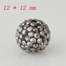 12 * 12mm Crystal AB Perles strass