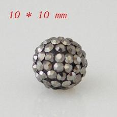 10 * 10mm Crystal AB Perles strass