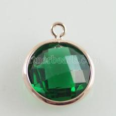 Glaskristall baumeln Charms durch 12mm color009