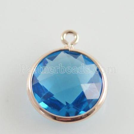 Glass crystal dangle Charms dia 12mm color004
