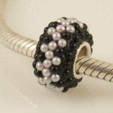 Mini pearl beads with silver plated core