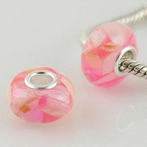 S925 Shell beads with poly mixed