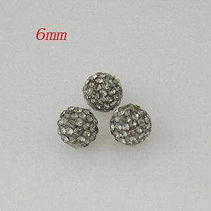 6*6mm gray Rhinestone beads