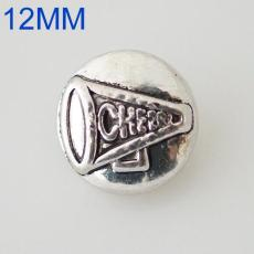 12mm cheer snaps  Silver Plated KB6593-S snap jewelry