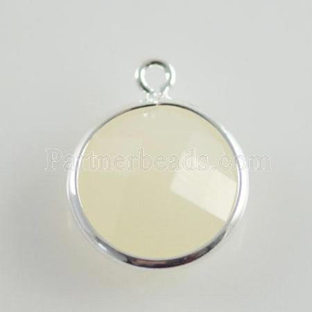 Glass crystal dangle Charms dia 12mm color006