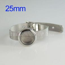 25mm Stainless steel floating charm Magnetic locket bracelets