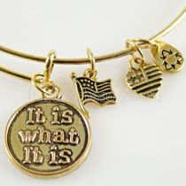 It Is What It Is Charm Bangle-Spontaneity • Blessing • Destiny