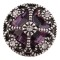 20MM design snap Silver Plated with purple Rhinestones KC6420 snaps jewelry