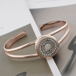 20MM design rose gold Plated KC6519 snaps jewelry