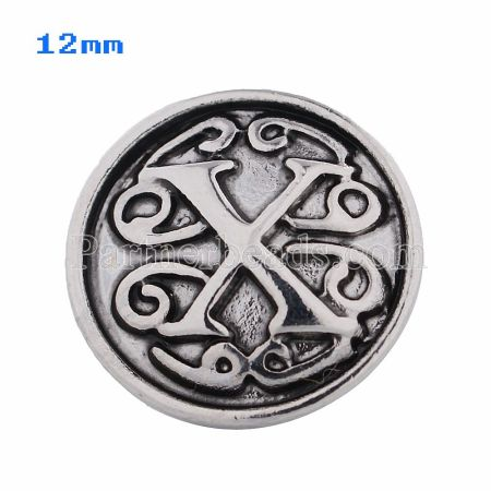 12mm X Antique snaps Silver Plated KS5023-S snap jewelry