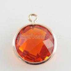 Glaskristall baumeln Charms durch 12mm color014