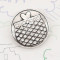 20MM design Round metal silver plated snap with White rhinestone KC9273 charms snaps jewelry