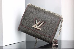50281 large louis vuitton  handbag Denim M size adjustable chain size 23*18*8cm