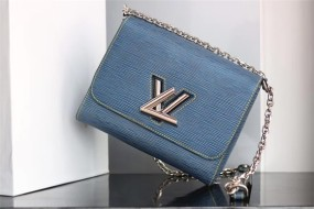 Fashion woman's bag wallet  louis vuitton  handbag Denim M size adjustable chain size 23*18*8cm
