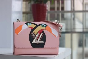 50287 louis vuitton  handbag Denim large medium small M size 23*18*8cm Sequin Toucan pattern
