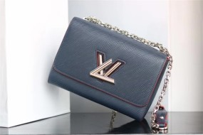 Fashion woman's bag louis vuitton  handbag Denim M size adjustable chain size 23*18*8cm