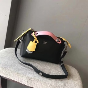 FENDI BAGBlack Pink most fashionable trend of urban women's leather