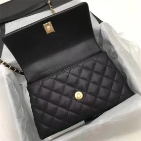 chanel bag high quality Black gold Buckle  new fashion handbags
